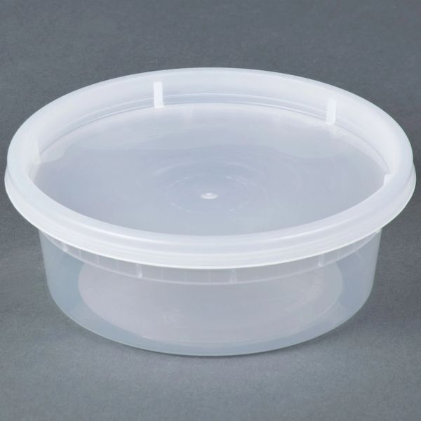 Microwavable Container - 8oz Deli Container - [PCM] - 8oz - 250 Sets / Case