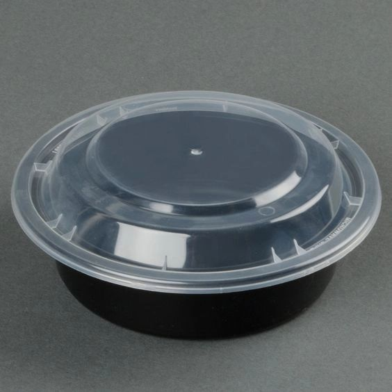 "Microwavable Container - 7"" Round - [PCM] - 24oz - 150 Sets / Case"