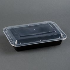 Microwavable Container - 38oz Rectangular - [PCM] - 38oz - 150 Sets / Case