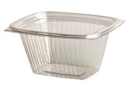 Genpak - AD06 - 6oz Clear Hinged Lid Container