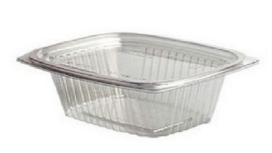 Genpak - AD48 - 48oz Clear Hinged Lid Container