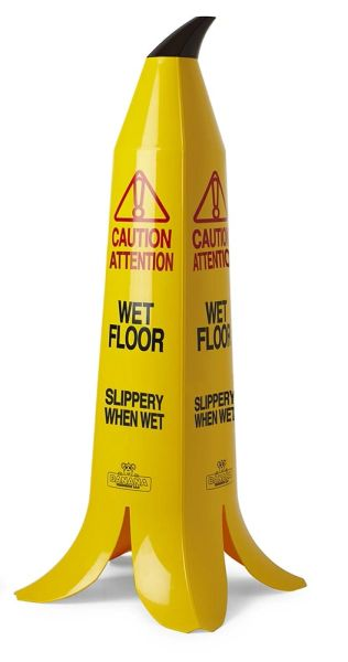 "The Banana Cone - 36"" - French & English Wet Floor Sign"