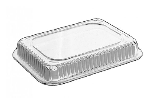 HFA - [4045DL-500] - Plastic Dome Lid for 3 Comp. Oblong Container - 500/CS