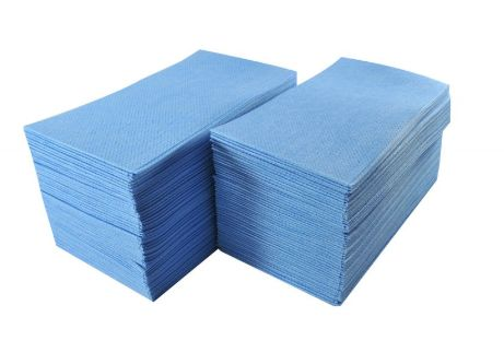FOOD SERVICE TOWELS - BLUE 100/BOX