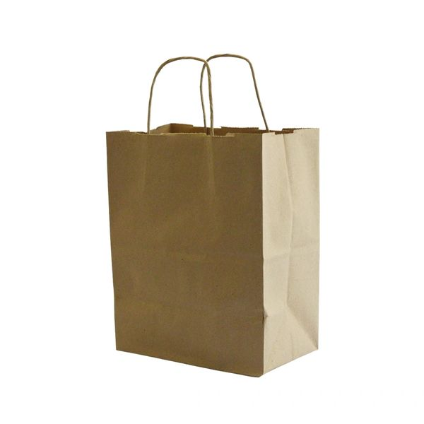 "Paper Bag - Kraft Jr. Mart/Shopper Bag - 13"" x 7"" x 13"" - 250/Case"