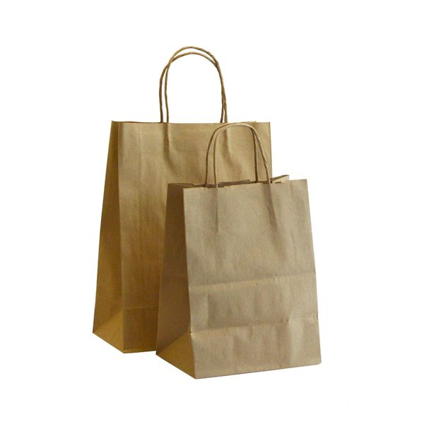 "Paper Bag - Kraft Missy/Shopper Bag - 10"" x 5"" x 13"" - 250/Case"