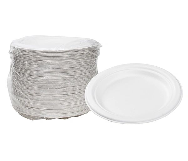 "TOUCH - [12-102] - 7"" BIODEGRADABLE PLATES - 1000/CS"