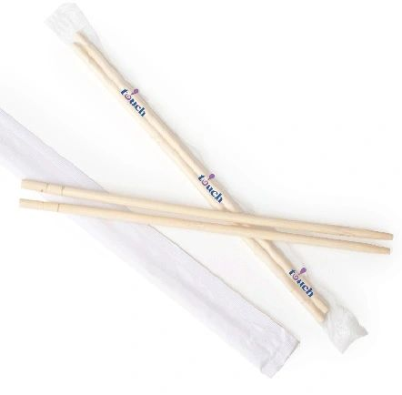 "TOUCH - [80-852] - 8"" BIRCH CHOPSTICKS - INDIVIDUALLY WRAPPED - 4000/CS"
