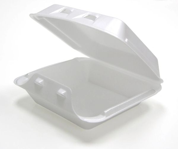 """Pactiv - [HLW0701] - 7.5"""" x 8"""" x 2-5/8"""" - Foam Hinged Lid Container"""