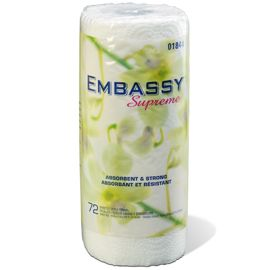 Kitchen Paper Towel - 2 Ply, 72 Sheet - [01844] - Embassy Supreme - 24 RL / CS