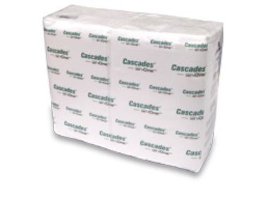 Dispenser Napkins - 1 Ply, White - [2410] - Cascades ServOne - 6016/CS