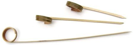"""TOUCH - [82-993] - 2 LOOP BAMBOO PICK - 3.5"""" - 1000/CS"""