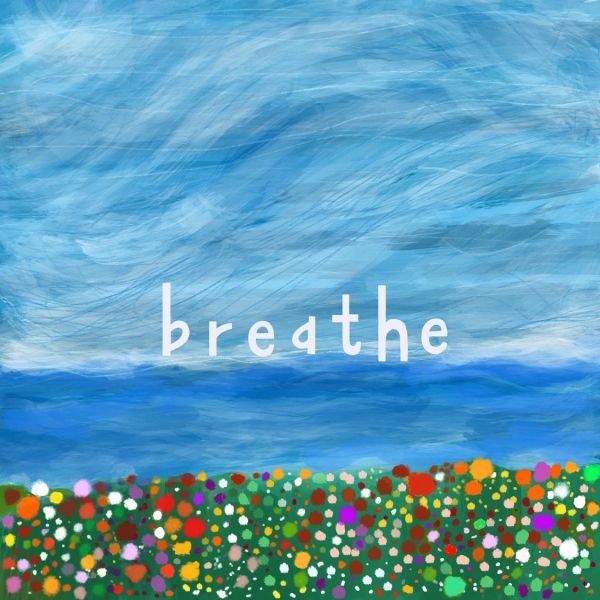 Breathe (blank notecard with envelope)