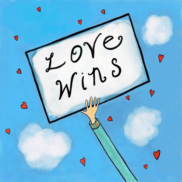 Love Wins (blank notecard with envelope)