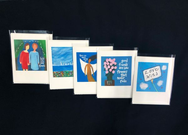 """NOTECARDS ($5 each) click on """"notecard"""" category under SHOP on home page to place specific card orders)"""