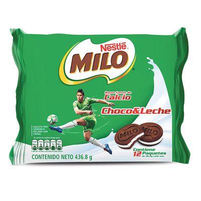 Galletas Milo Sandwich x 12 Unidades 437g
