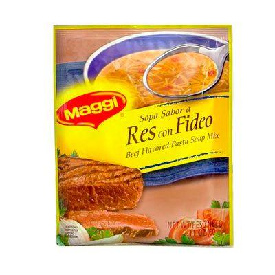 Sopa res Con Fideos Maggi 60g