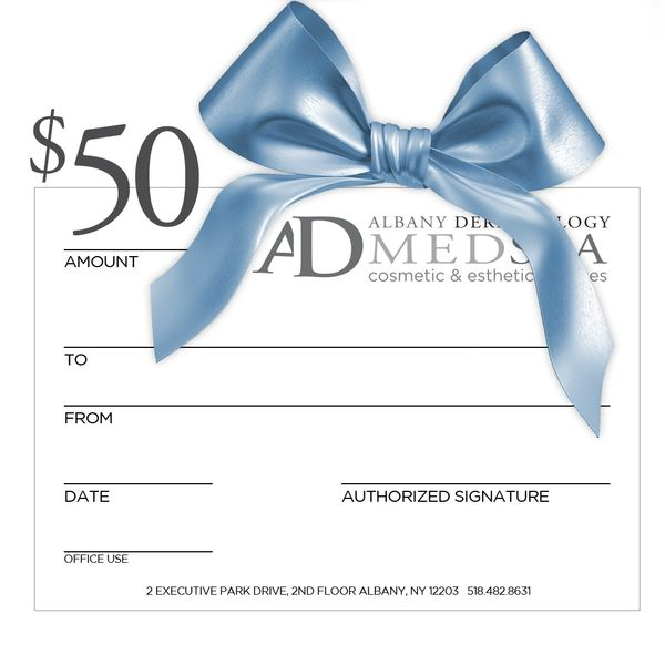 Albany Dermatology $50 Gift Certificate