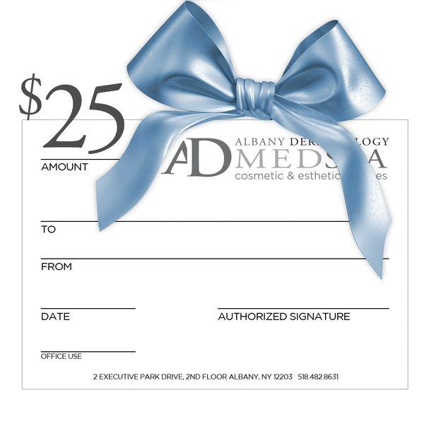 Albany Dermatology $25 Gift Certificate