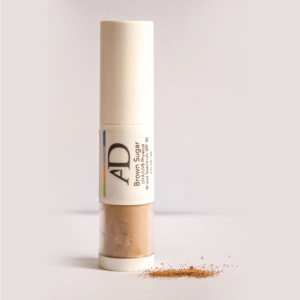 AD 100% Organic Mineral Foundation Brown Sugar with SPF 30