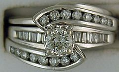 1ctw Diamond Wedding and Engagement Set
