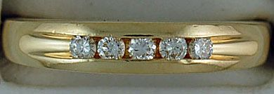 Gentlemans 1/4ctw Diamond Band