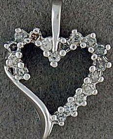 Ladies 1/4ctw Diamond Heart Pendant