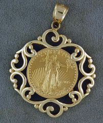1/10oz US Gold Bullion Coin Pendant