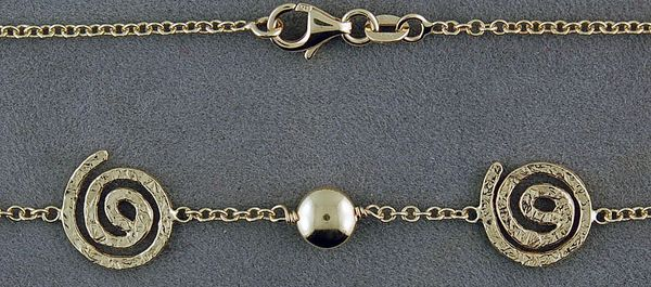 "16"" Swirl and Ball Link Chain"