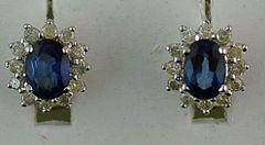 2-1/2ctgw Diamond and Sapphire Earrings