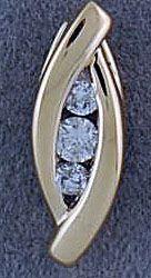3 Round Cut Diamond Pendant