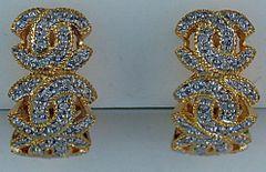 Ladies Diamond CC Earrings