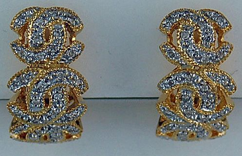 Ladies Diamond CC Earrings