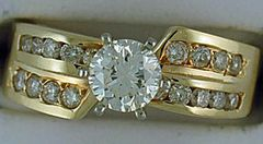 Ladies 1-1/4ctw Diamond Engagement Ring