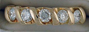 Ladies 5/8ctw Diamond Twist Band