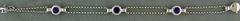 7 inch Three Amethyst Bracelet
