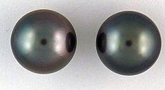 Ladies Black Pearl Stud Earrings