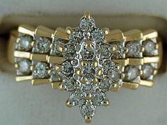 Ladies 3/4ctw Diamond Cluster Ring