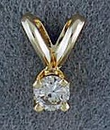 Round Cut Diamond Solitaire Pendant