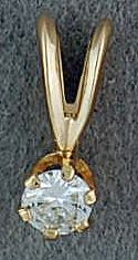 1/6ct Round Cut Diamond Solitaire Pendant