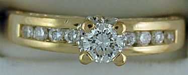 Ladies 3/4ctw Diamond Engagement Ring