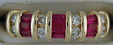 1/2ctgw Diamond and Ruby Band
