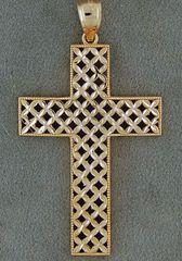 Basket Weave Cross Pendant