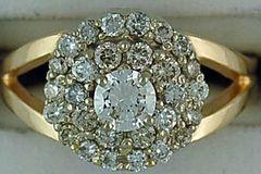 Ladies 1cte Diamond Cluster Ring