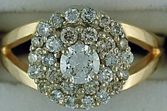 Ladies 1cte Diamond Cluster Ring