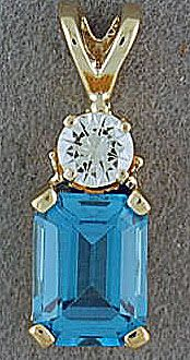 Diamond and Topaz Pendant