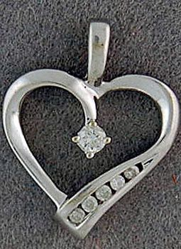 1/5ctw Diamond Heart Pendant