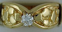 1/3ct Diamond Nugget Solitaire Ring