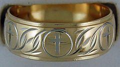 Gentleman's Cross Pattern Ring