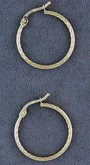 Patterned Yellow Gold Hoop Earrings